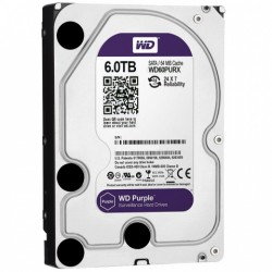 Disco Duro WD Purple 6TB Surveillance 64mb 5400rpm WD60PURX