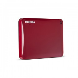 Disco Portatil Toshiba Canvio Connect II V8 1TB ROJO USB 3.0